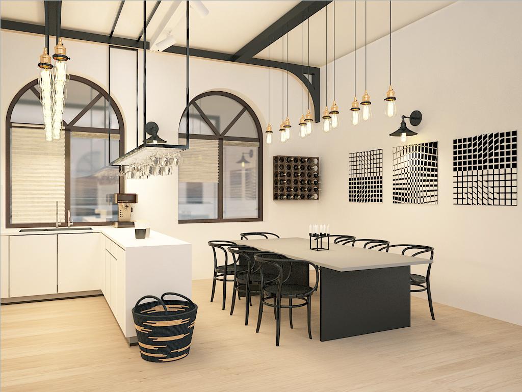 minimal art design загородного дома