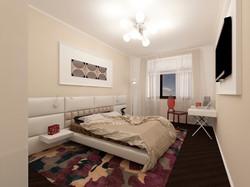 Спальня в ярких оттенках