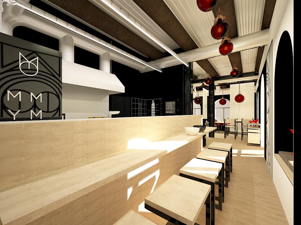 interior design by restaurant