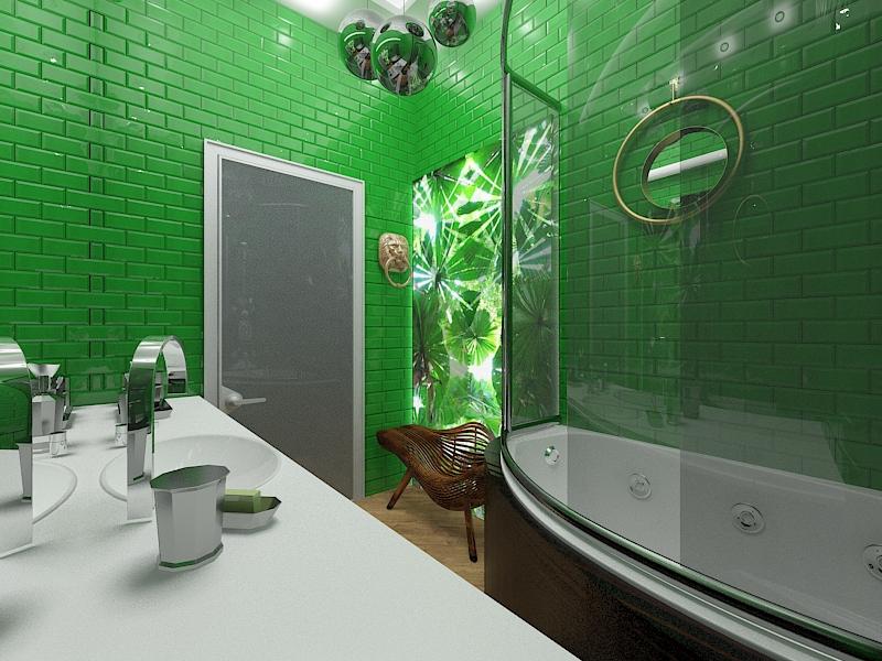 Ванная в тропическом стиле, FD