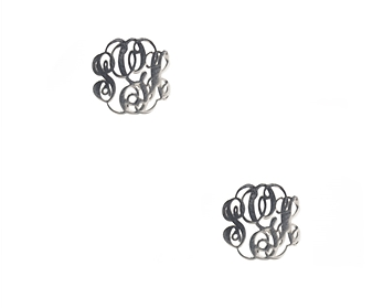 0c55946eb Home   Davidson   www.jewelboxonline.com   Sterling Silver Cut Out Monogram  Stud Earrings