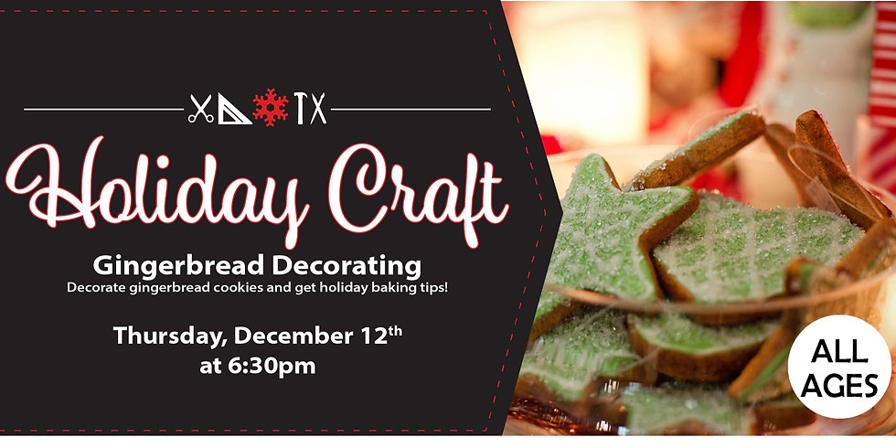 Holiday Crafts: Gingerbread Decorating