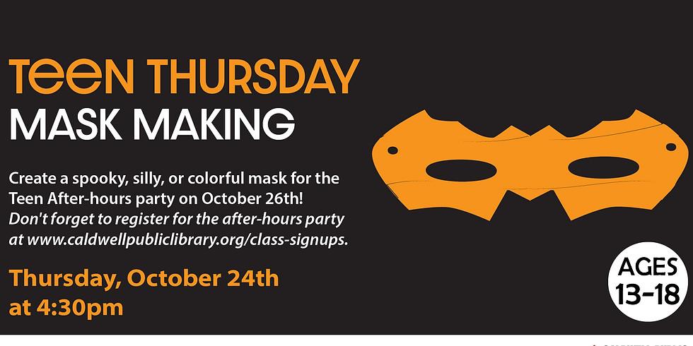 Teen Thursday: Mask Making