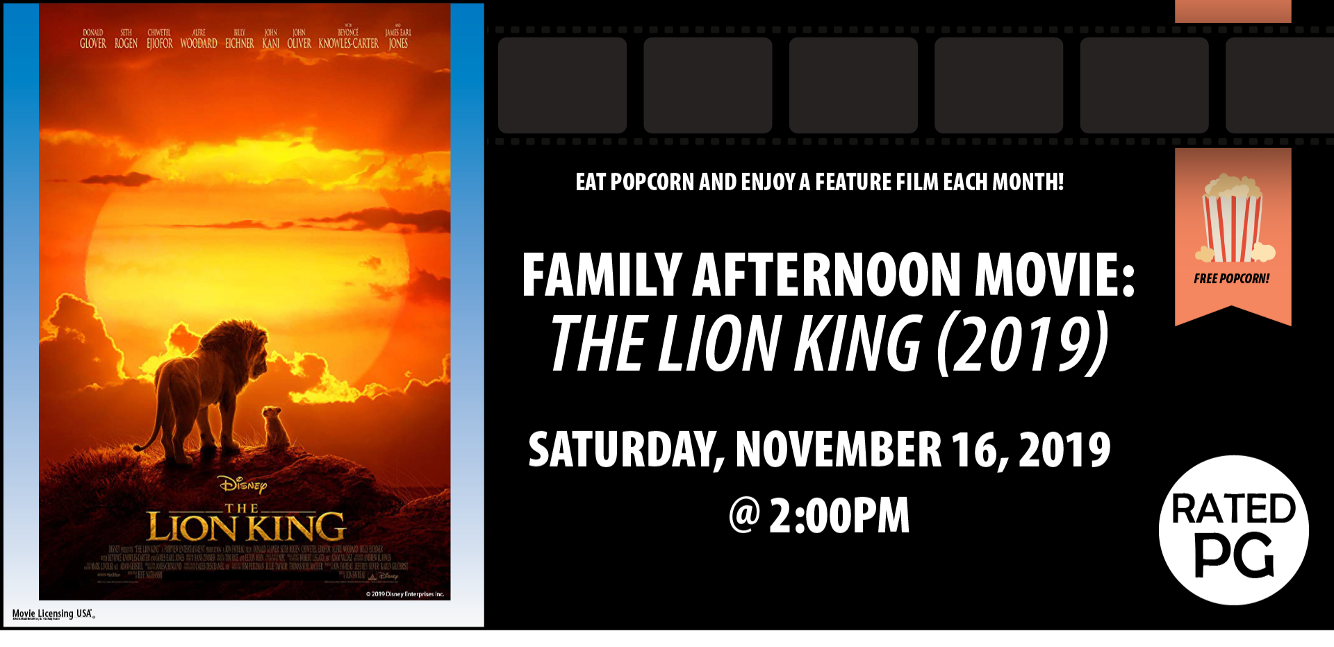Family Afternoon Movie The Lion King 2019
