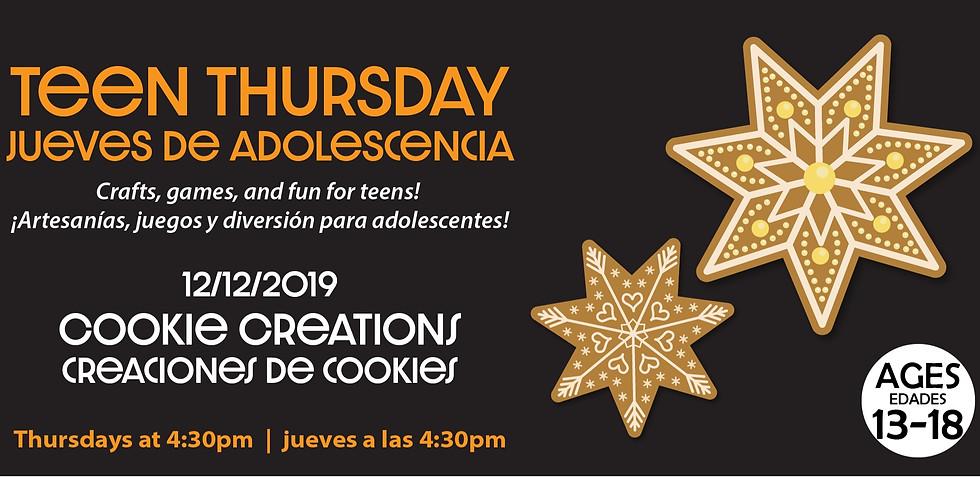 Teen Thursday: Cookie Creations