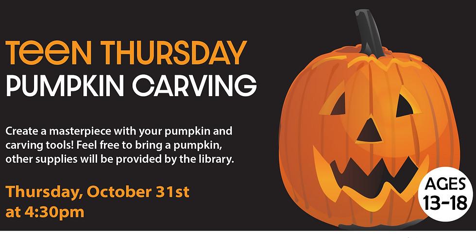 Teen Thursdays: Pumpkin Carving