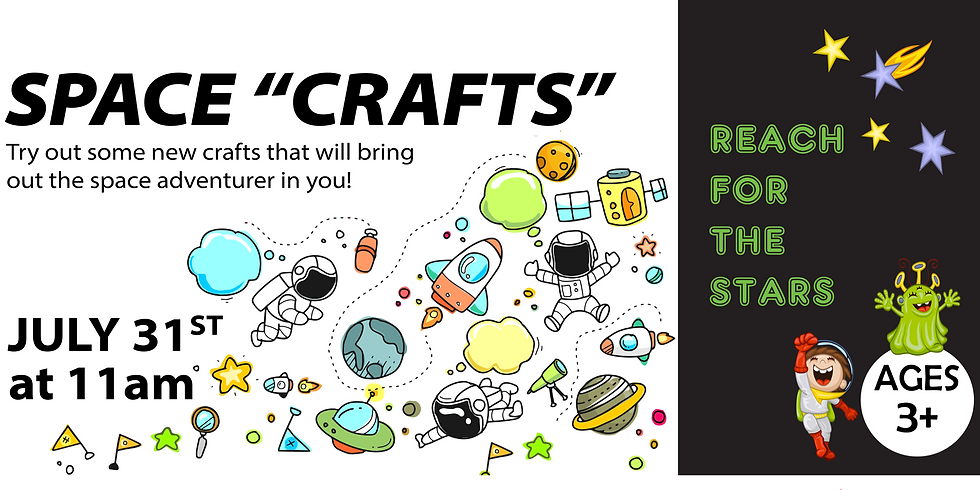 """Reach for the Stars: Space """"Crafts"""""""