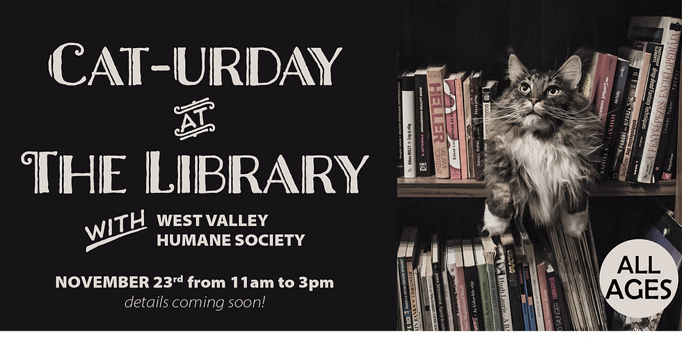 Cat-urday at the Library
