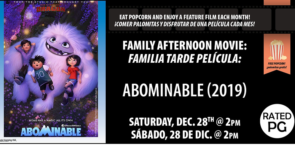 Family Afternoon Movie: Abominable (2019)