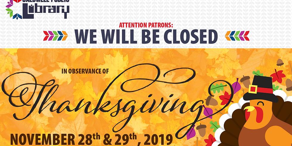 Closed - Thanksgiving