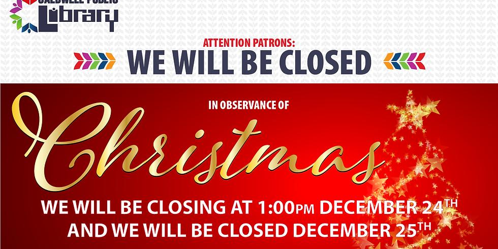 Early Closure - Christmas Eve