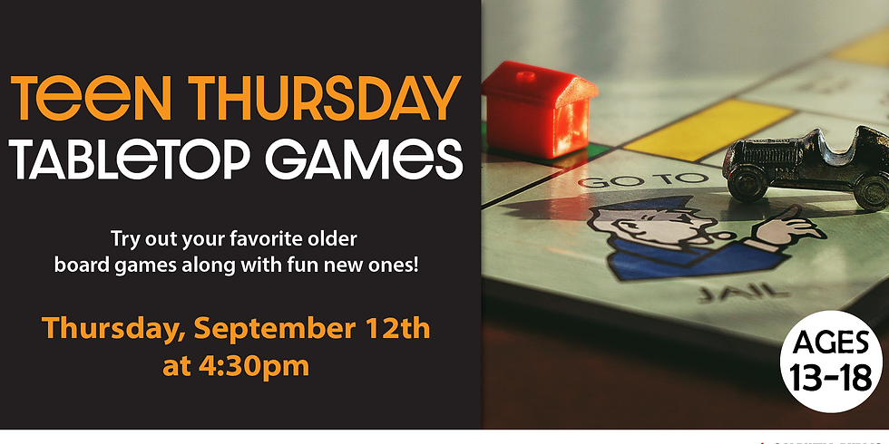 Teen Thursdays: Tabletop Games