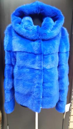 норка синяя поперек куртка