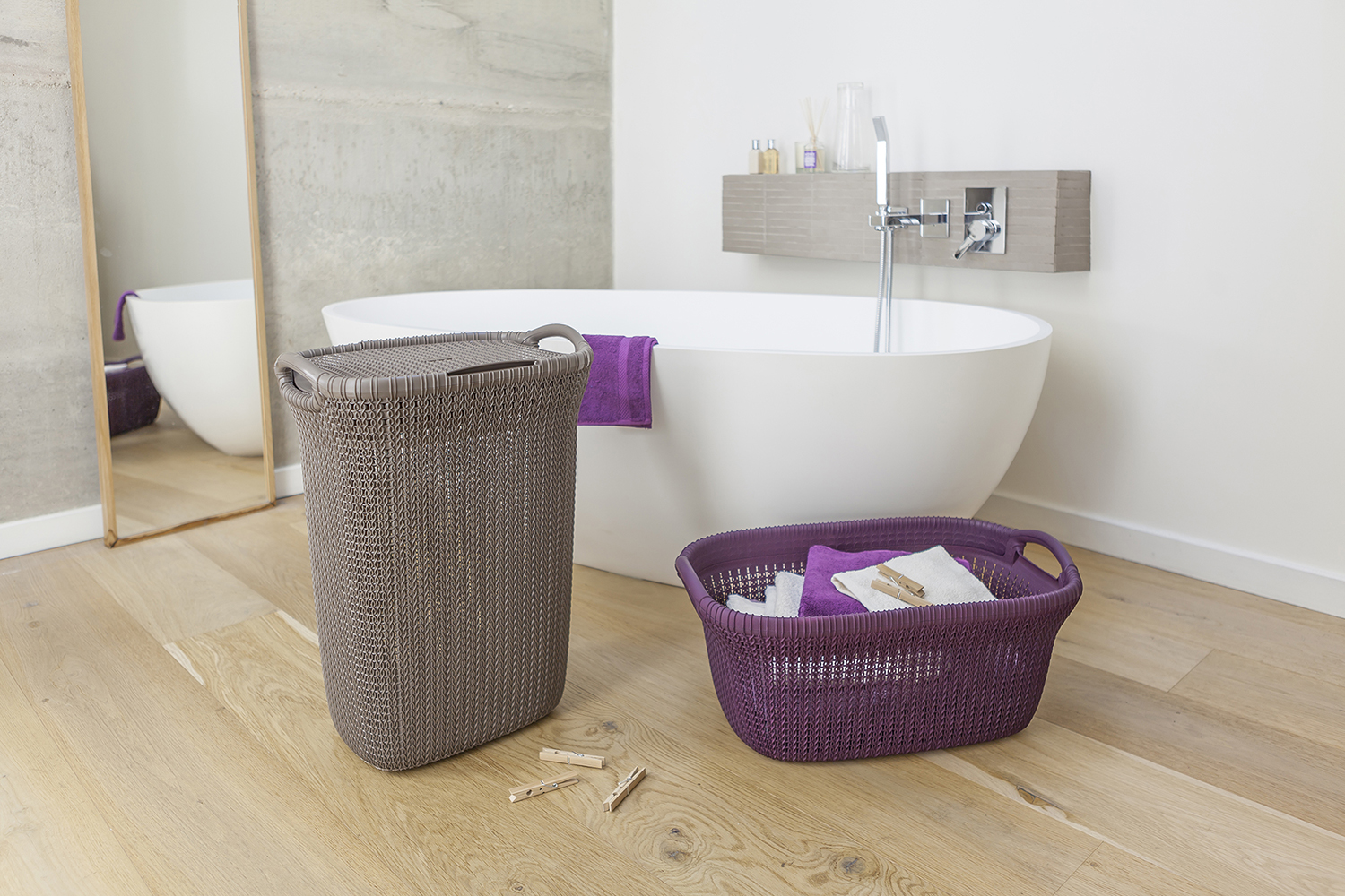 Curver- Knit Hamper and Laundry Basket