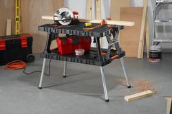Folding work table