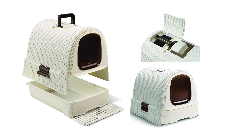 CURVER- Rattan Cat Litter Box Features