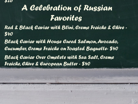 Dinner Specials August 8th-11th