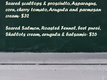 New Dinner Specials August 1st - August 4th