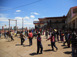 School Playing with Donated Frisbees