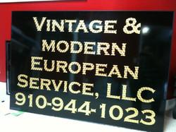 Vintage gold leaf letters