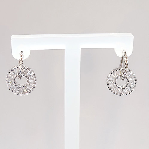 DOUBLE CIRCLE ROUND EARRINGS