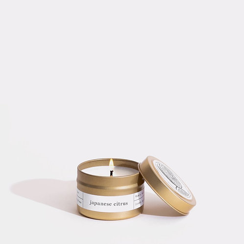 Japanese Citrus Gold Travel Candle