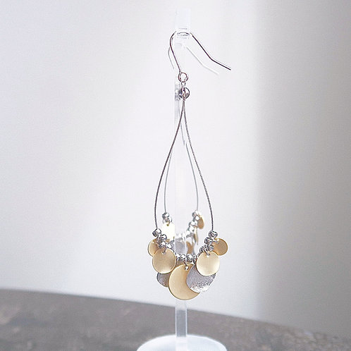 LAYERED CIRCLE DROP EARRINGS