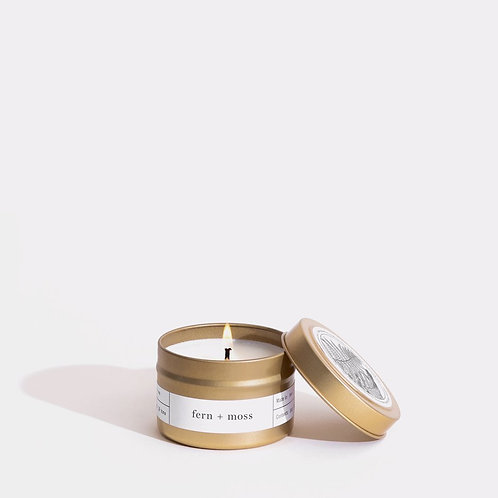 Fern + Moss Gold Travel Candle