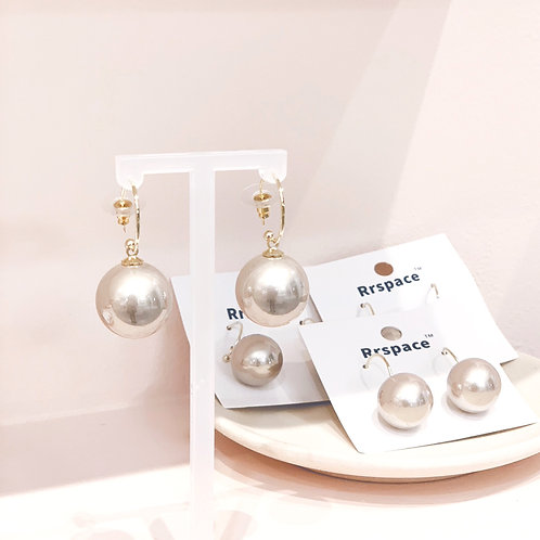 FAUX PEARL DROP EARRINGS ROSE GOLD