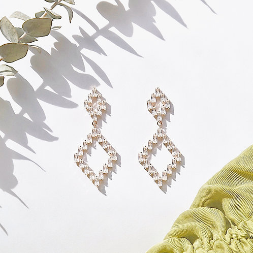 RHOMBUS JEWLE EARRINGS