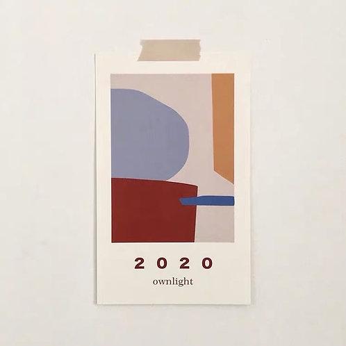 2020 Monthly Calendar Card