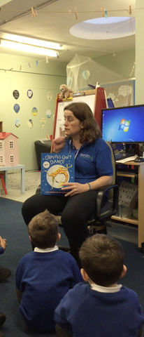 Story time again with Miss Wilkins