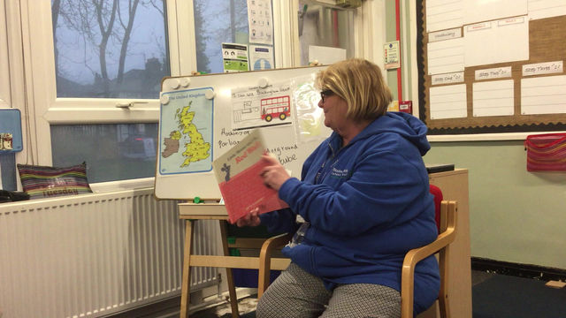 Story time again with Mrs Reaney