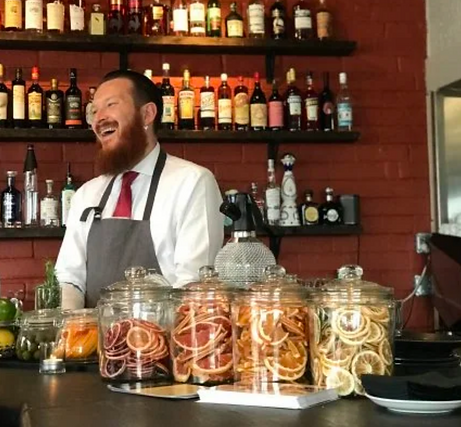 Mixologist Francis Verrall has helped cr