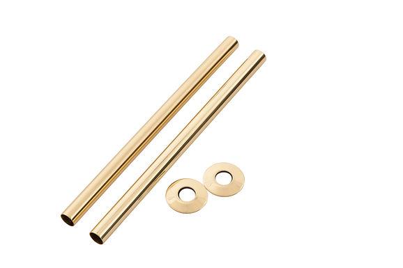 300mm Antique Brass (Polished) Pipe Shroud | Arroll
