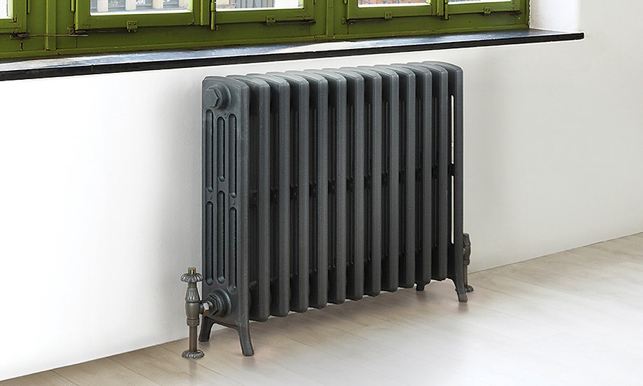The Steyning 4 Column Cast Iron Radiator in Anthractie