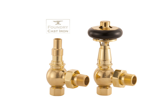 The Arundel TRV Radiator Valve set | UK28 | Antique Brass | Arroll
