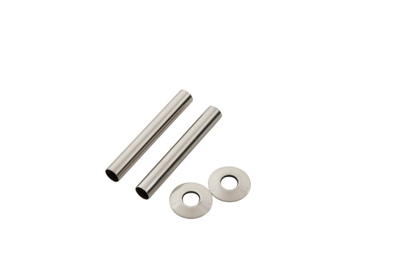 130mm Brushed Nickel Pipe Shroud | Arroll