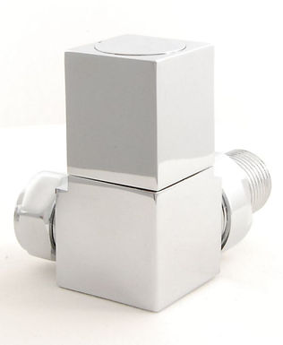 Cubex Corner Radiator Valve | Corner Manual | Chrome