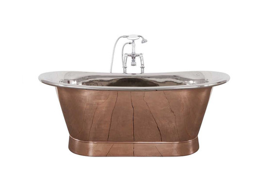Godolphin Copper Bath with Nickel interior | Hurlingham