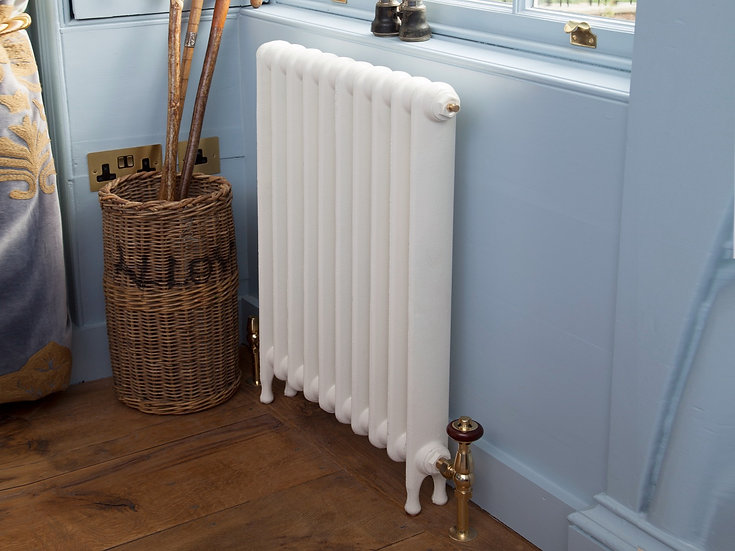 Carron Eton Narrow Cast Iron Radiator Painted in White