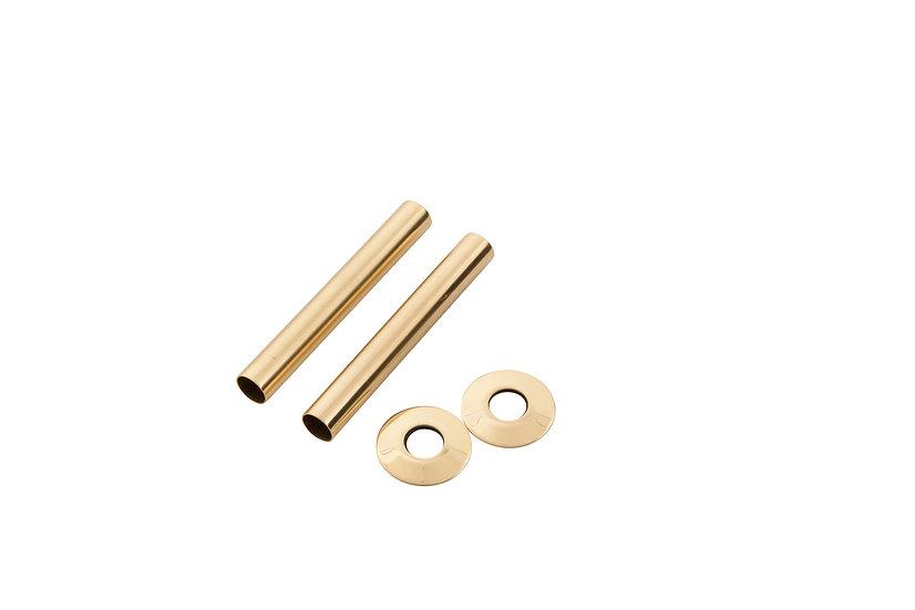 130mm Old English Brass Pipe Shroud | Arroll