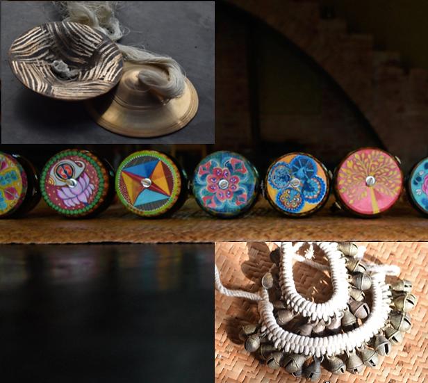 Baul Set: Sacred Art Ektara, Ghungur & Khartal