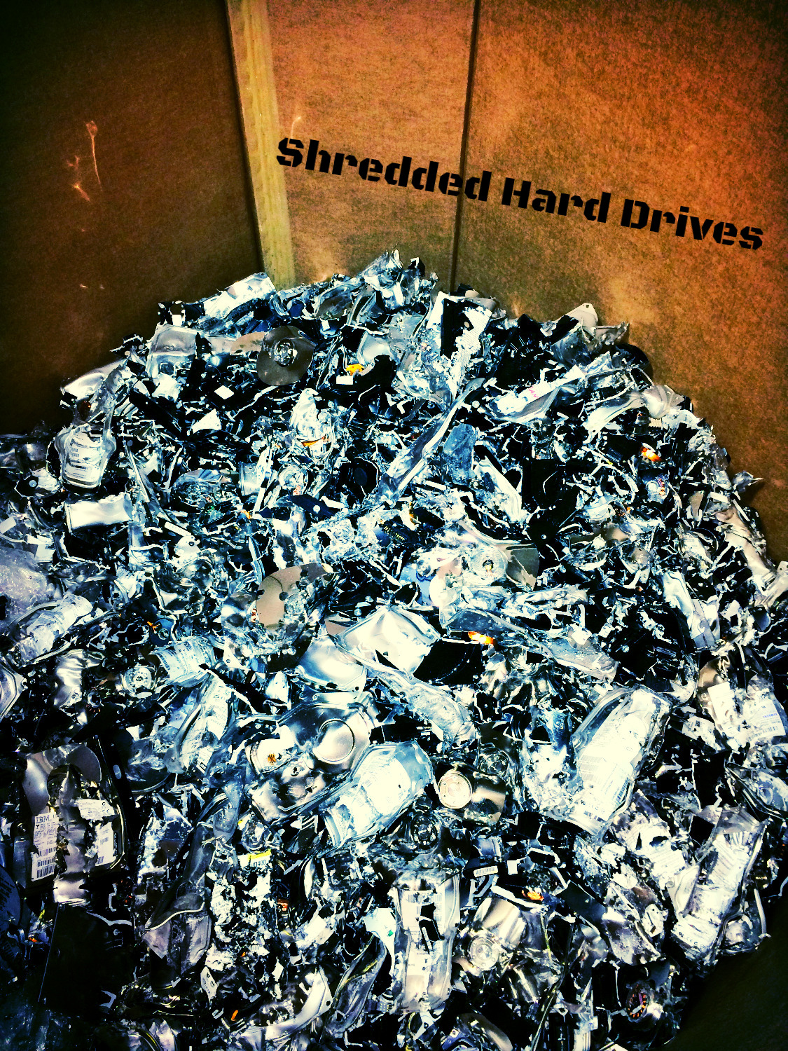 Shredded Hard Drives