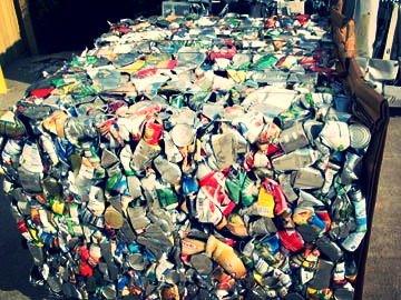 Baled Cans to Recycle