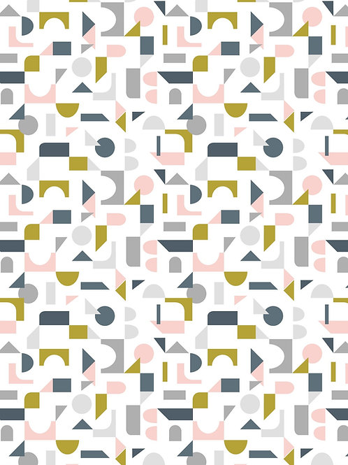Lewis & Irene - Forme Scattered Geometric on Cream