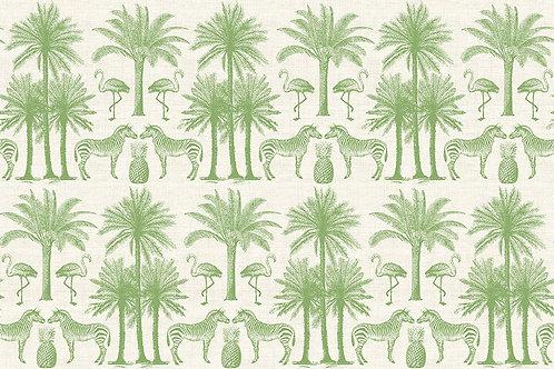 Makower 'Fern Garden' Palms Green