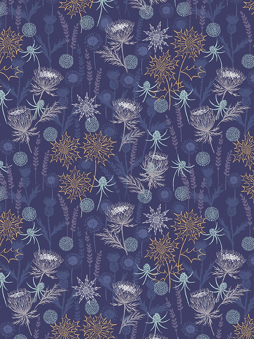 Lewis & Irene  - 'Iona' Dark Blue Thistle with copper