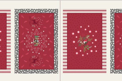 A Countryside Winter - Placemat Panel on Red