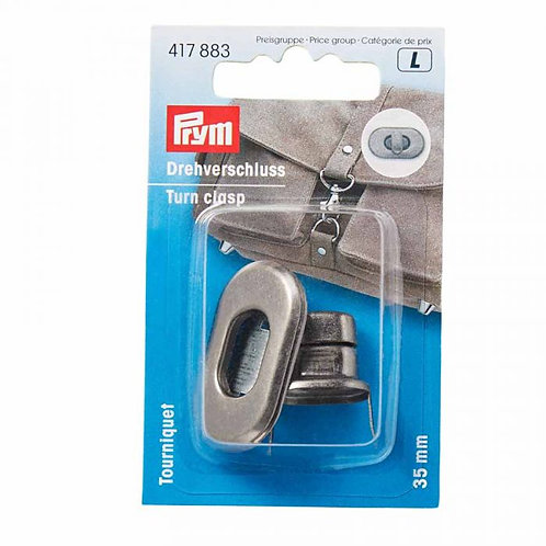 Prym - Turn Clasp for Bags - Antique Silver